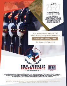Texas Weekend of Remembrance!!! @ Veterans Park and Athletic Complex | College Station | Texas | United States