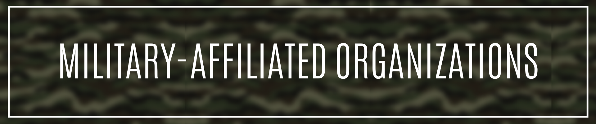 Military Affiliated Organizations Page Header